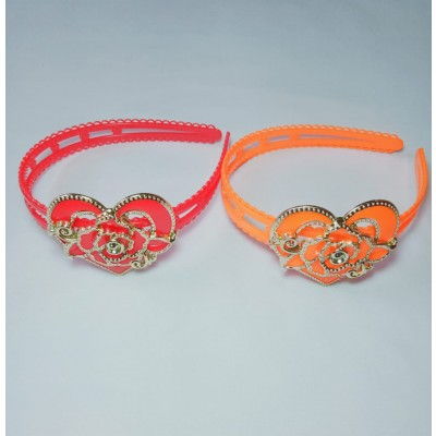 2 Crown Heart Shaped Bands For Girls