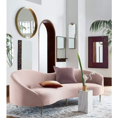 Modern, Affordable Stylish Three Seater  Pink Sofa