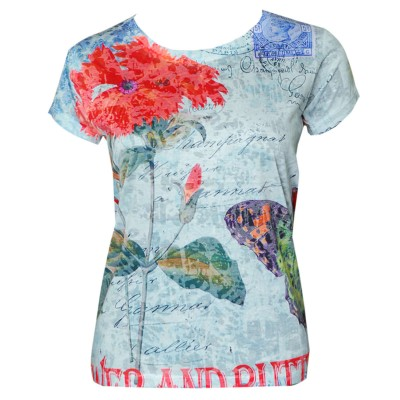 Multicoloured Summer Is Here Printed T-Shirt-FT-222-3