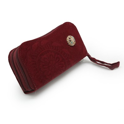 Fancy Hand Clutch For Girls - Maroon Color BG-237