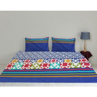American Printed Design Bed Sheet with Two Pillow Cases
