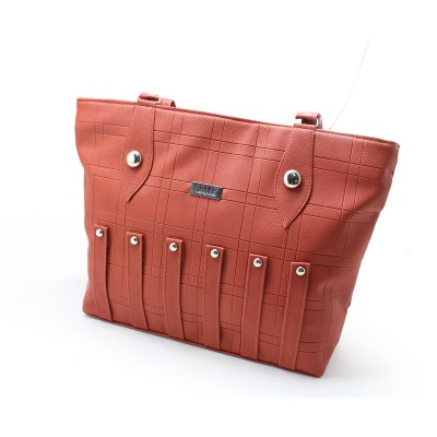 Brown Color Artificial Leather  Hand Bag for Girls BG-195