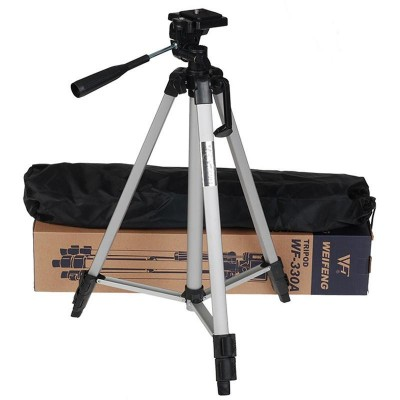 Tripod 330 Stand with Mobile Clip for Mobile and Camera ( Max Height upto 4.80 Feet )