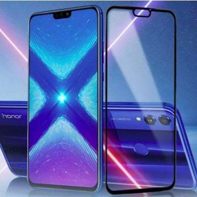 Huawei Honor 8X 5D Tempered Glass Screen Protector - Black