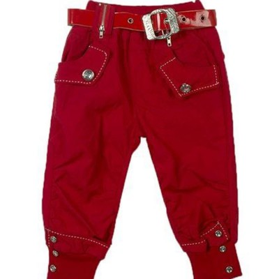 Four Pocket Red Casual Pant