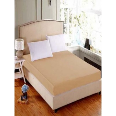 Baggy Beans Fitted Sheets -Jersey Mattress Fitted Sheet Light Brown