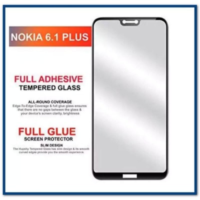 6D Tempered Glass Screen Protector For Nokia 6.1 Plus-Black