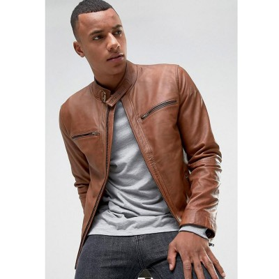High street Mustard Faux Leather Jacket