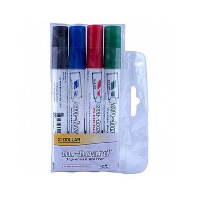 Pack of 4- Onboard Marker Round Tip MULTI COLOUR