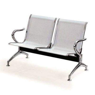 Silver 2 Seater Reception Bench