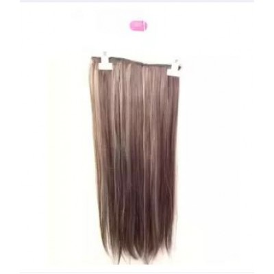 Straight Hair Extension 5 Clip Dark Brown To Highlighted BLONDE 2/30H88