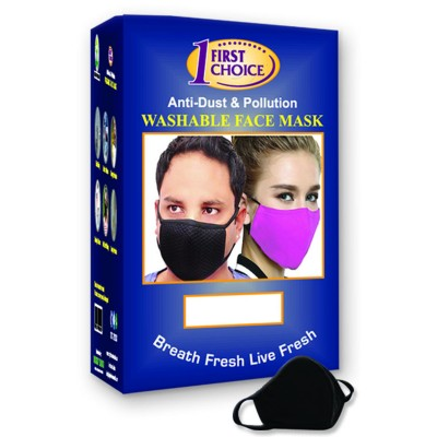 First Choice washable  Face Mask( black)