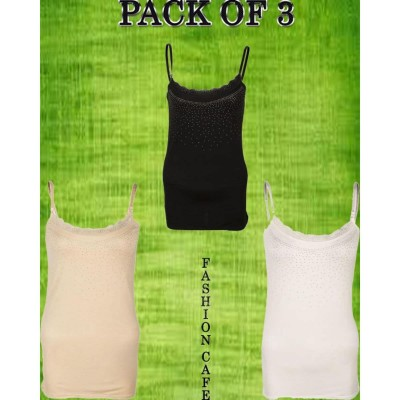 Pack of 3 - Multicolor Viscose - Camisole