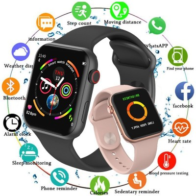 F10 Smart Watch 44mm IPS Touch Heart Rate Blood Pressure Monitor Fitness Watch