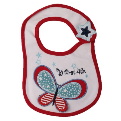 Soft Cotton Baby bib 7x7 Inch Red