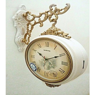 Haxing Double Side Wall Clock – White in Pakistan