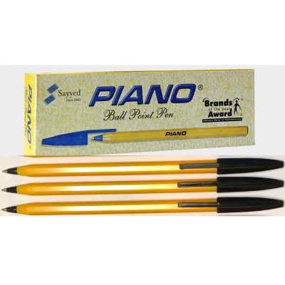 Pack Of 10 - Ball Pen Piano - Blue