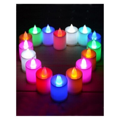 Pack Of 12 - Led Glowing Tea Light Candles