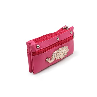 Picock Bunch Casual Hand Clutch For Girls  With Extra Pockets - pink color - BG239