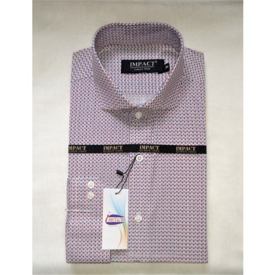 Men's Shirts in Blue and Maroon Print