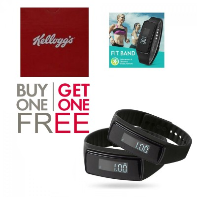 Buy 1 Get One Free Fitness Band With Pedometer & Distance Measurement, Black