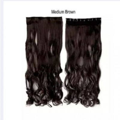 Straight Hair Extension Natural Brown 32 Inch
