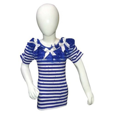 Baw Style Blue & White Top