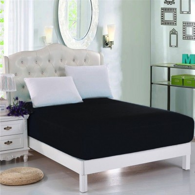 Black Jersey & Cotton King Size Bed Sheet KS-Cotton14