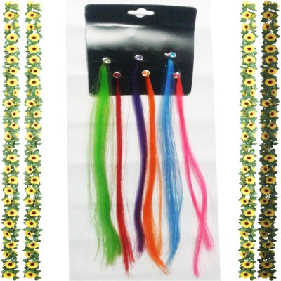 1 pack / 6 pieces White Children's Day Adult Braided Wig Stage Performance