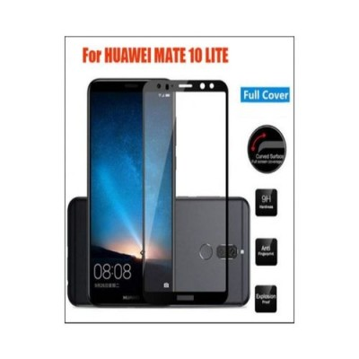 5D Tempered Glass Protector For Huawei Mate 10 Lite - Black