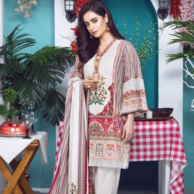 Women Summer Collection V2 Unstitched-Embroidered 3-pc Multi Lawn Suit KLA-9044
