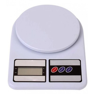White Electronic Kitchen Scale Digital