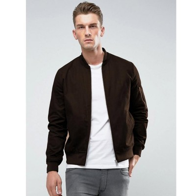 Brown Faux Leather High street Jacket
