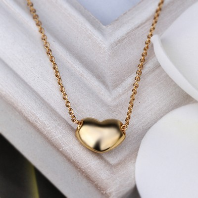 18k Gold Plated Heart Pendant Necklace