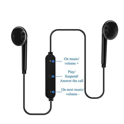Sports In-Ear Neckband Wireless Headphone Bluetooth V4.1 Earphone With Mic Stereo Earbuds