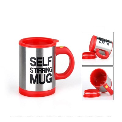 Redcoffee Mug Creative Stainless Steel Self Stirring With Lid Automatic Mixing Lazy Insulated Cup