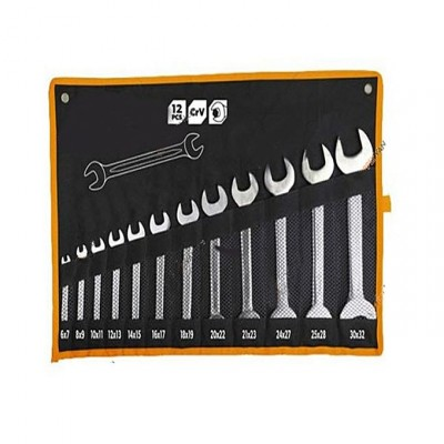 12 Pieces Double Open End Spanners Set