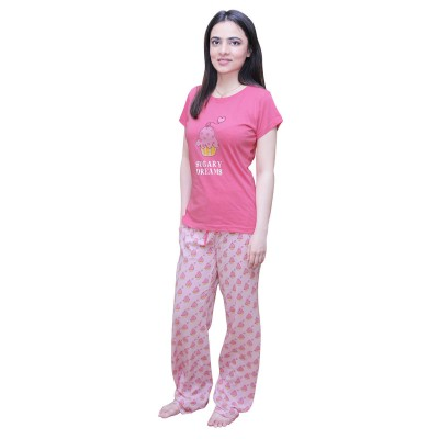 Light Pink Sugary Dreams 100% Cotton T-Shirt-S-F23