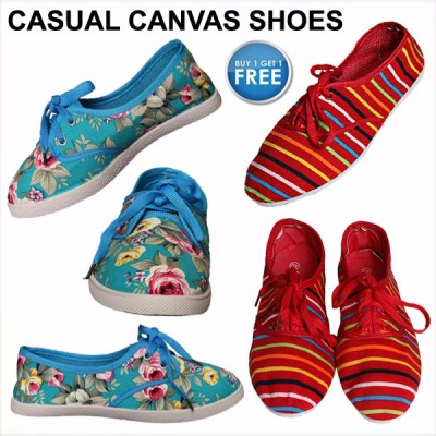 Casual Canvas Shoes for Women Buy 1 Get 1 Free