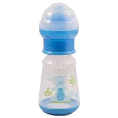 60ML BPA Free Feeding Bottle With Rattle - High Quality - Green