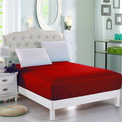 Red Jersey Polyester Single Size Bed Sheet Sb-Mix6